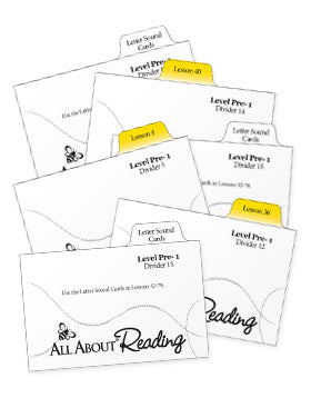 All About Reading Pre-reading: Divider Cards