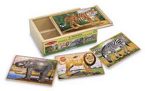 Wild Animals Puzzles in a Box