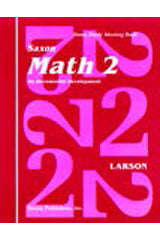Saxon Math 2 Homeschool (1st Edition): Student Workbook Set