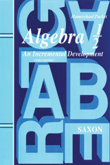 Saxon Algebra 1/2 (3rd Edition): Homeschool Packet