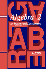 Saxon Algebra 2 (3rd Edition): Kit with Solutions Manual