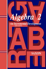 Saxon Algebra 2 (3rd Edition): Homeschool Packet