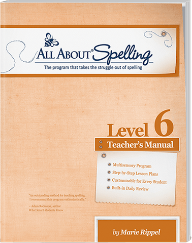 All About Spelling Level 6: Teacher's Manual