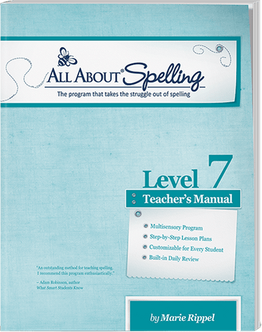 All About Spelling Level 7: Teacher's Manual