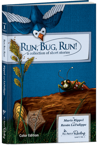 All About Reading Level 1: Run, Bug, Run! (Volume 1, Color Edition)