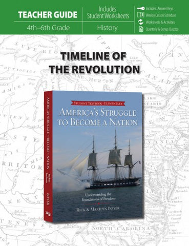 Timeline of the Revolution (Teacher Guide for America's Struggle to Become a Nation)