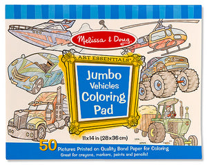 Jumbo Vehicles Coloring Pad