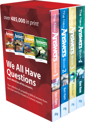 New Answers Book Boxed Set (4 volumes)