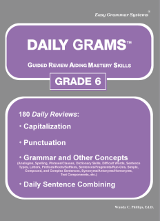 Daily Grams: Grade 6 Teacher Edition