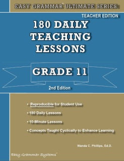 Easy Grammar Ultimate Series: Grade 11 Teacher Edition [DAMAGED COVER]