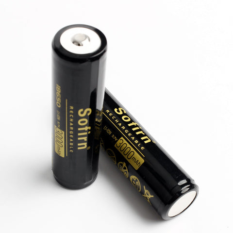 3000mAh 18650 Battery Button Top Unprotected