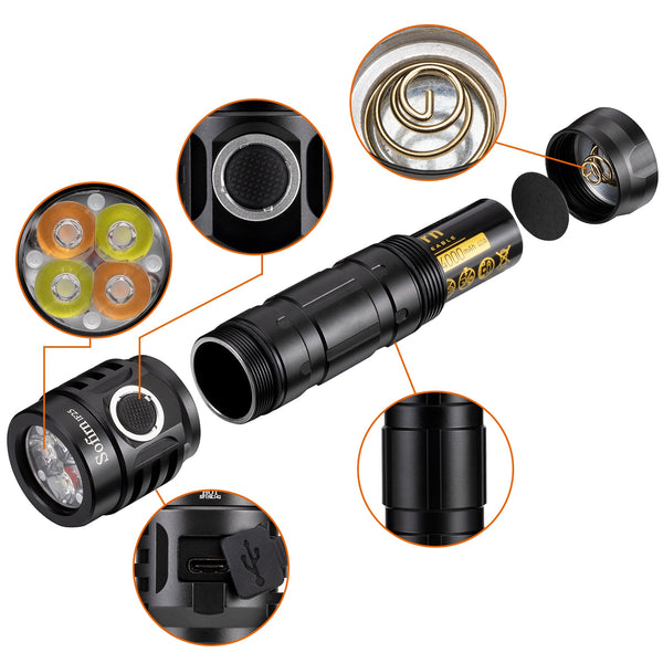 IF25 Rechargeable Flashlight Tint Ramping