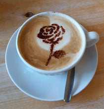 Load image into Gallery viewer, Lancashire Rose Coffee Stencil