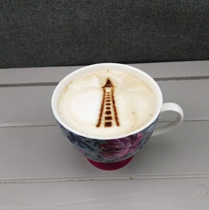 Blackpool Tower Coffee Stencil