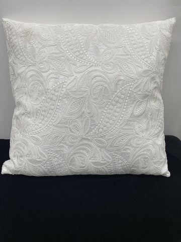 Ivory Lace Pillow