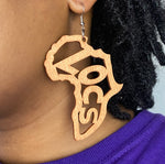 Load image into Gallery viewer, Wooden 'Locs' Earrings