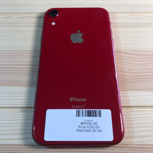 Apple iPhone XR (Product) Red 64 Gb Smartphone (Unlocked) Back Side