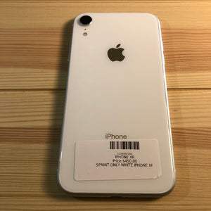 iPhone XR White 64 GB Smartphone (Sprint)