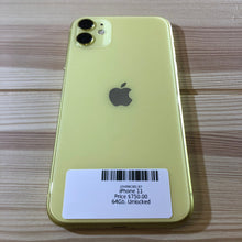 Load image into Gallery viewer, iPhone 11 Yellow 64 GB Smartphone (Unlocked)