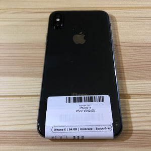 iPhone X Black 64 GB Smartphone (Unlocked)