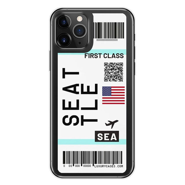 FIRST CLASS Plane Ticket Phone Case