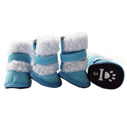 4pcs Set Winter pet dog Snow Boots puppy snowy