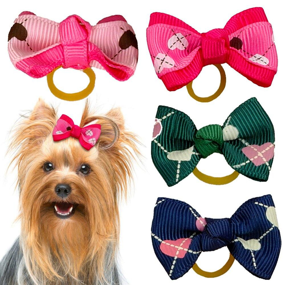 50/100pcs Bowknot Cat Dog Hair Bows Cute Bow Knot - grumpycat.store