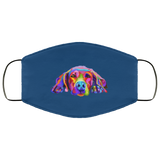 Hand painted weimaraners Human Face Mask