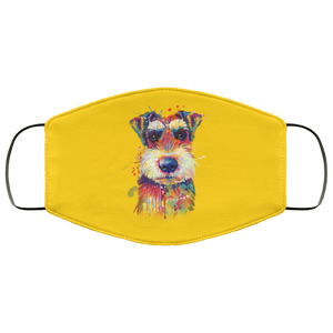 Hand painted Schnauzer human Face Mask