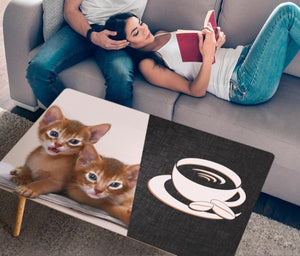 Abyssinian Cat Print Rectangular Coffee Table - grumpycat.store