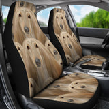 Afghan Hound Dog In Lots Print Car Seat Covers - grumpycat.store