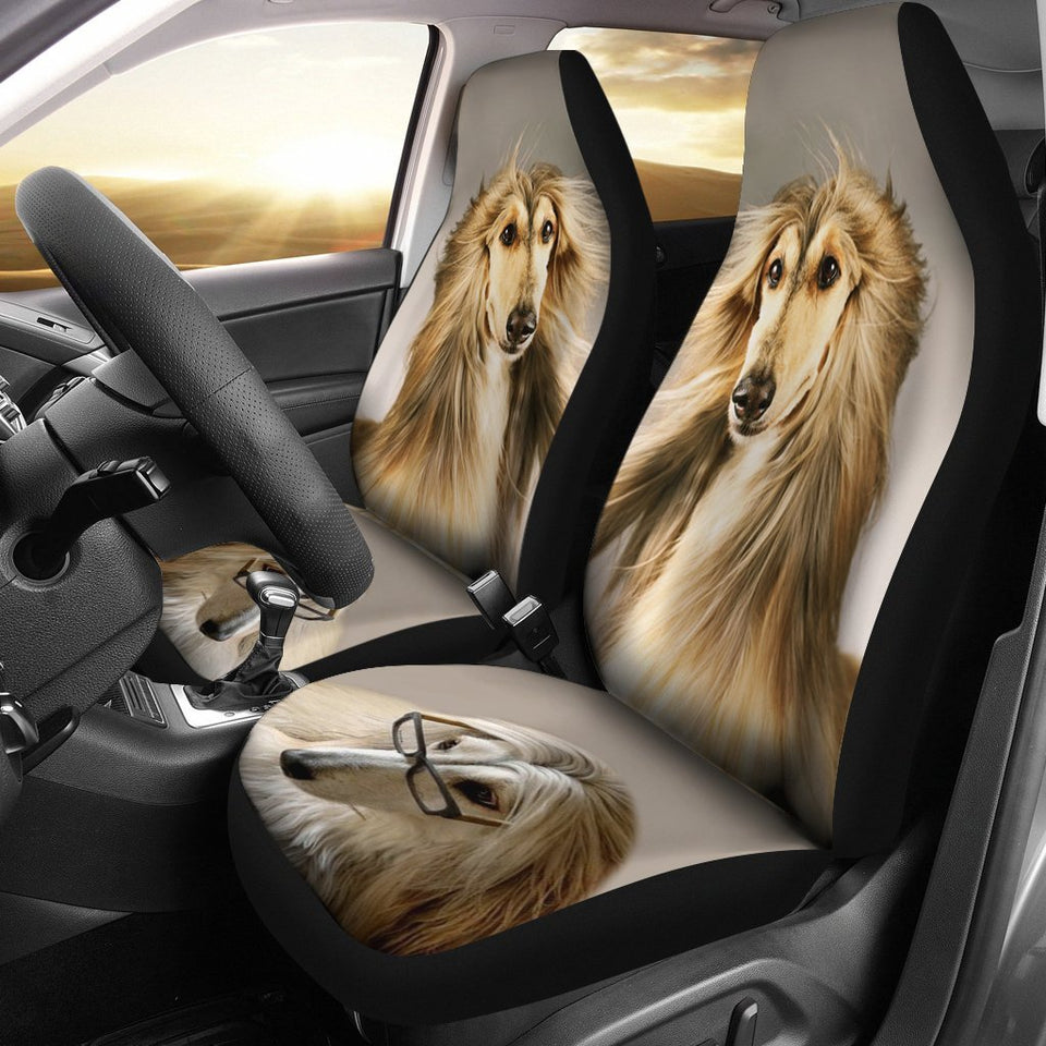 Afghan Hound Dog Print Car Seat Covers - grumpycat.store