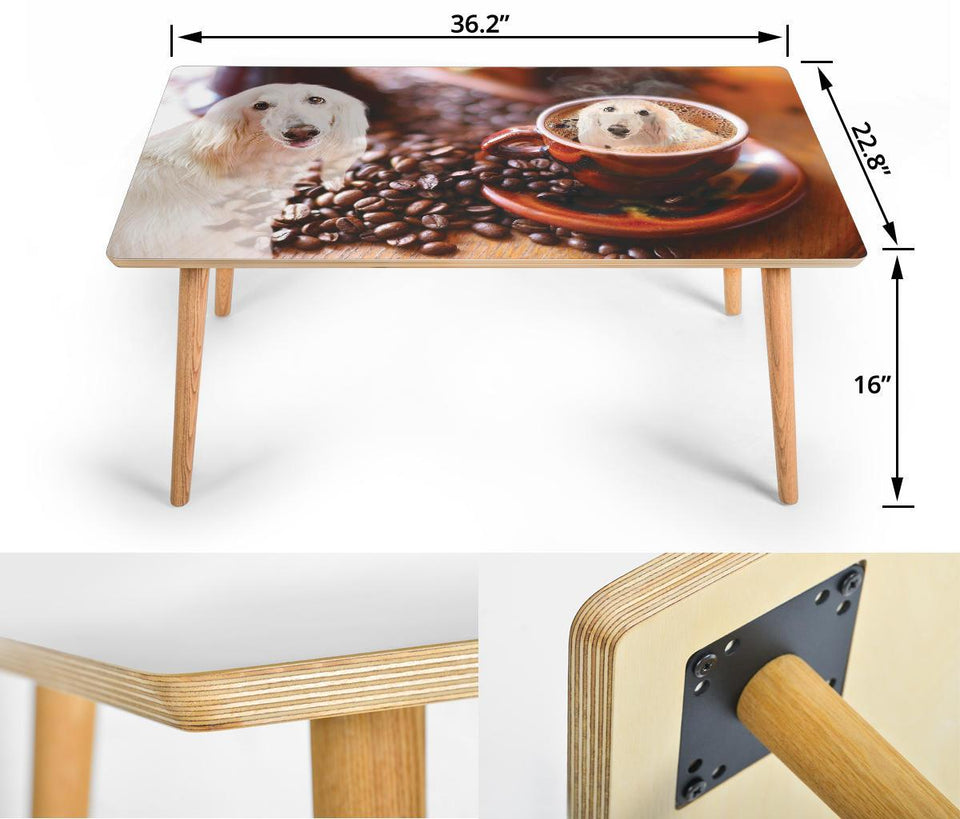 Afghan Hound Print Rectangular Coffee Table - grumpycat.store