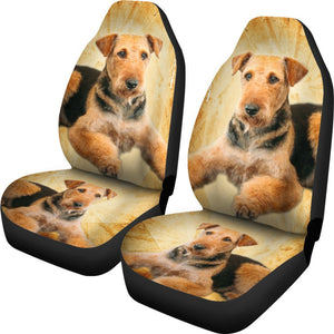 Airedale Terrier Print Car Seat Covers - grumpycat.store