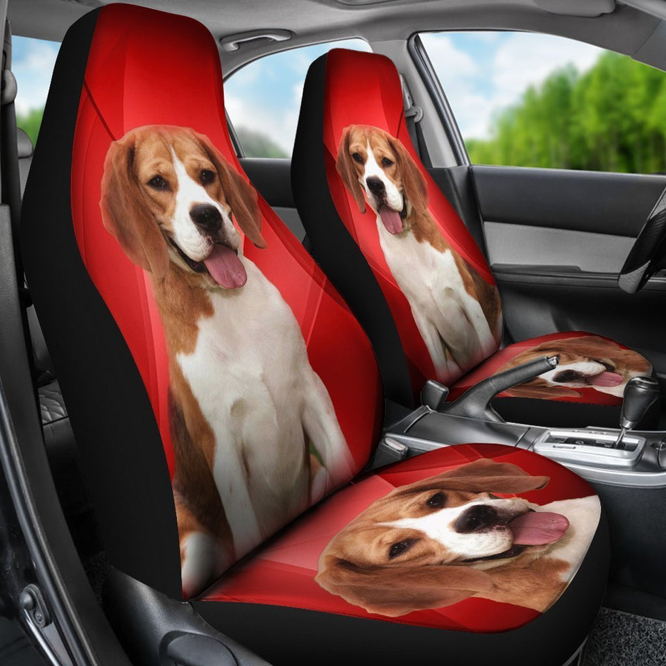Amazing Beagle Dog Red Print Car Seat Covers - grumpycat.store
