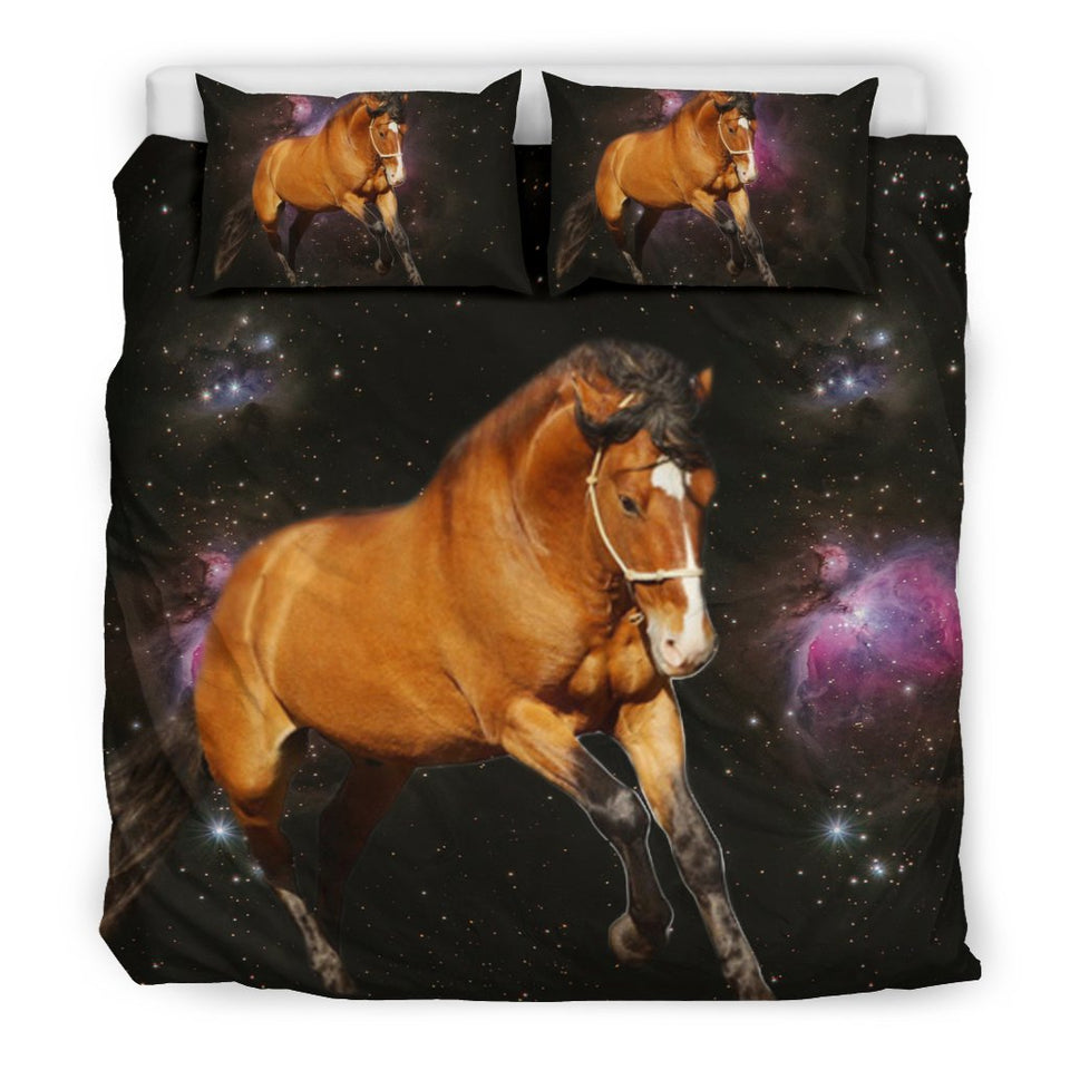 Amazing Belgian horse Print On Space Bedding Sets - grumpycat.store