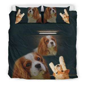 Amazing Cavalier King Charles Spaniel Dogs Print Bedding Sets - grumpycat.store