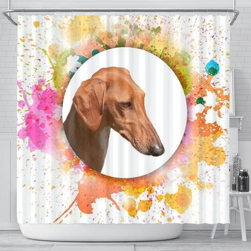 Azawakh Dog Print Shower Curtain - grumpycat.store