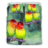 Beautiful Love Birds Print Bedding Set - grumpycat.store