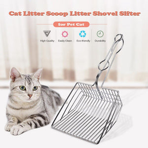 Cat Litter Scoop Metal Litter Shovel Sifter Pet - grumpycat.store