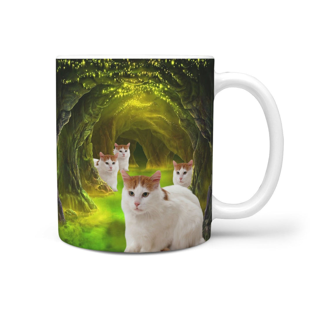 Charming Turkish Van Cat Print 360 Mug - grumpycat.store