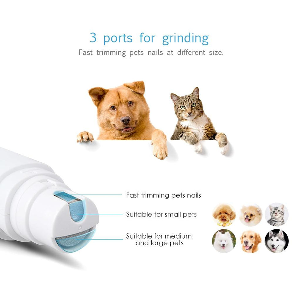 Electric Pet Nail Grinder Rechargeable Cat Dog - grumpycat.store