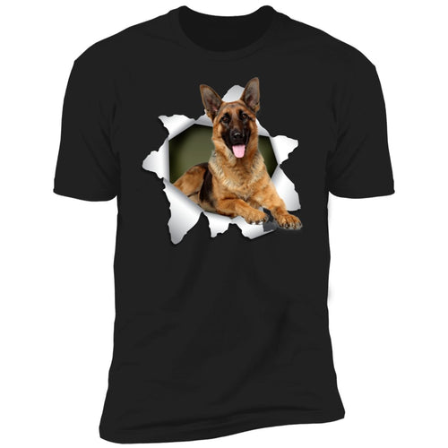GERMAN SHEPHERD 3D Premium Short Sleeve T-Shirt - grumpycat.store