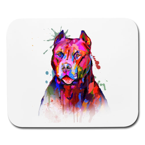 Hand Painted Pitbull Mouse pad Horizontal - grumpycat.store
