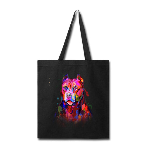 Hand Painted Pitbull Tote Bag - grumpycat.store