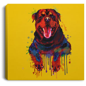 Hand Painted Rottweiler Square Canvas .75in Frame - grumpycat.store
