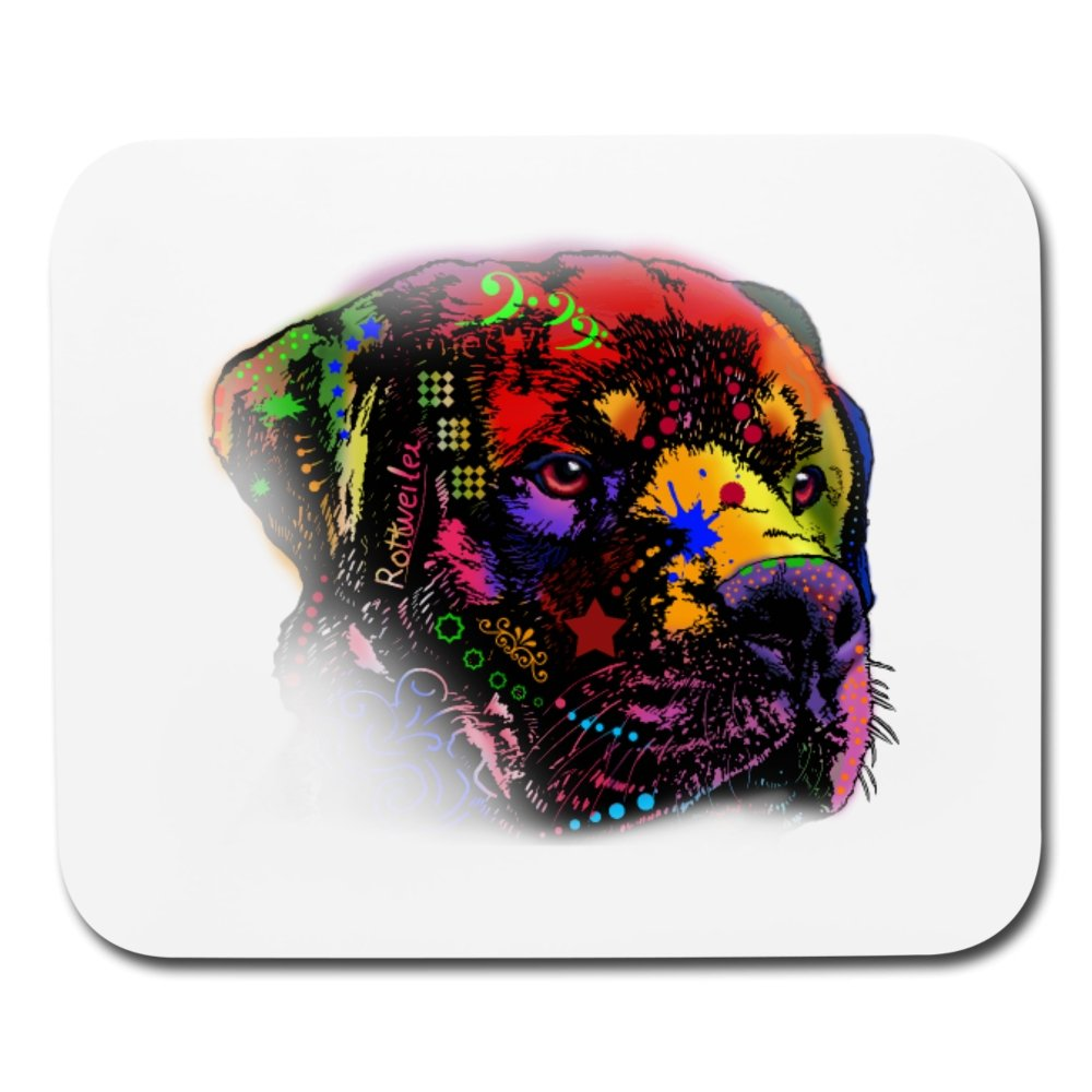 Hand Painted Rotweiler Mouse pad Horizontal - grumpycat.store