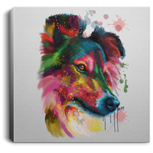 Hand Painted Sheltie Square Canvas .75in Frame - grumpycat.store