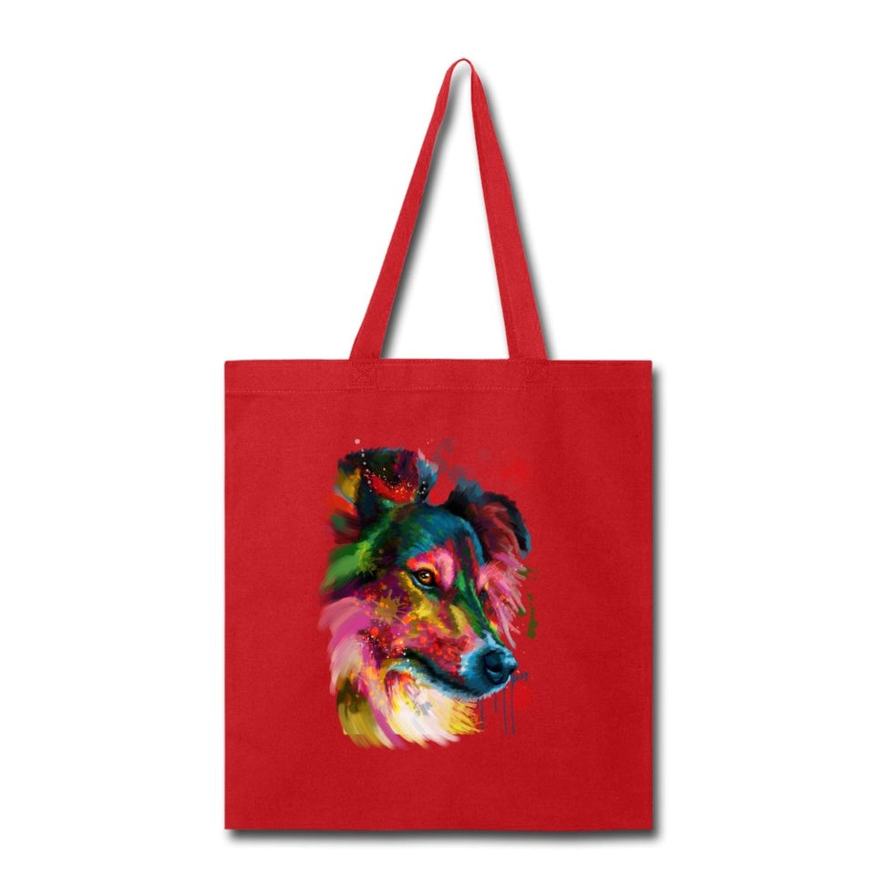 Hand painted sheltie Tote Bag - grumpycat.store
