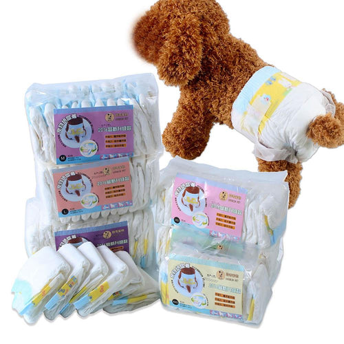 Newly 10pcs Pet Dogs Female Ultra Protection Disposable Dog Diapers Pets Products - grumpycat.store